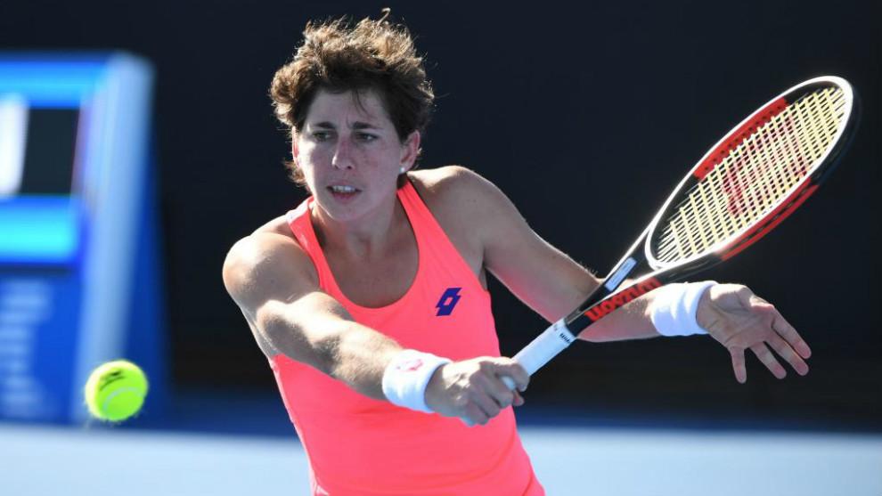Carla Suárez, en el Open de Australia