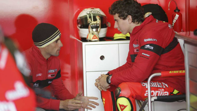Debón, con Lorenzo, en 2007.