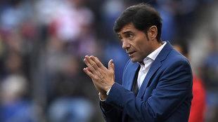 Marcelino, en un partido con el Valencia