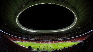 Imagen del Wanda Metropolitano antes de un partido.