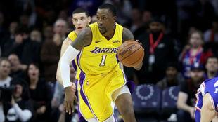 Kentavious Caldwell-Pope jugando con los Lakers