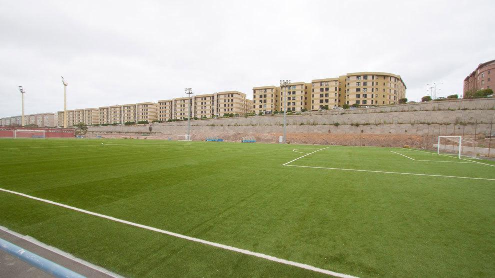 Anexo del Estadio de Gran Canaria donde juega la cantera amarilla