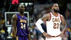 Kobe y LeBron James, enfrentados por los aficionados, tienen muy buena...