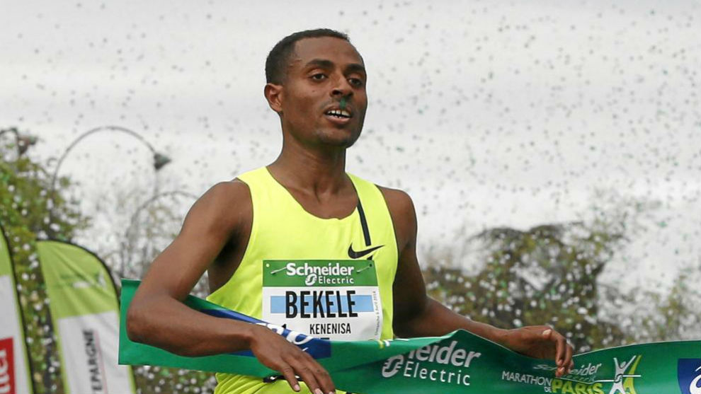 Kenenisa Bekele, durante una prueba