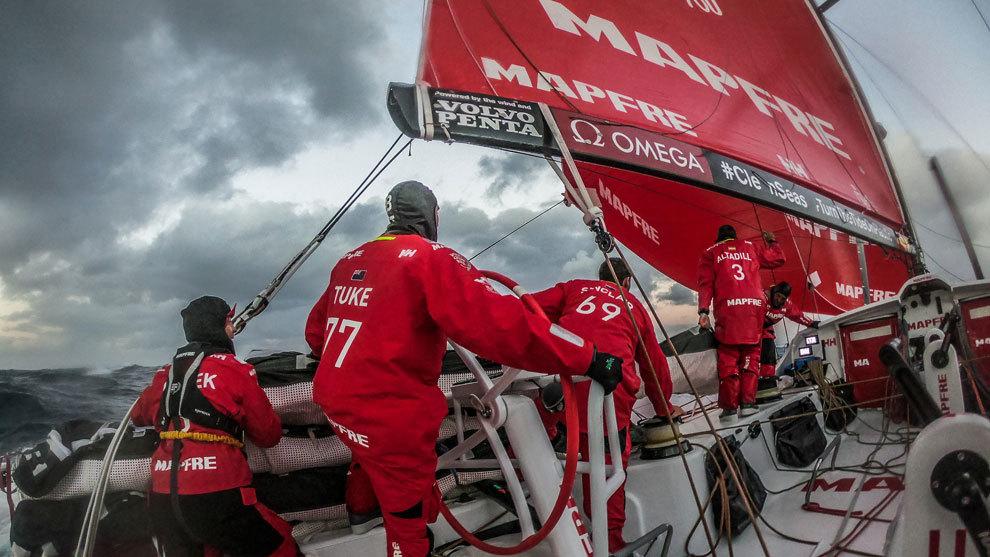 El MAPFRE, en la tercera etapa de la Volvo Ocean Race