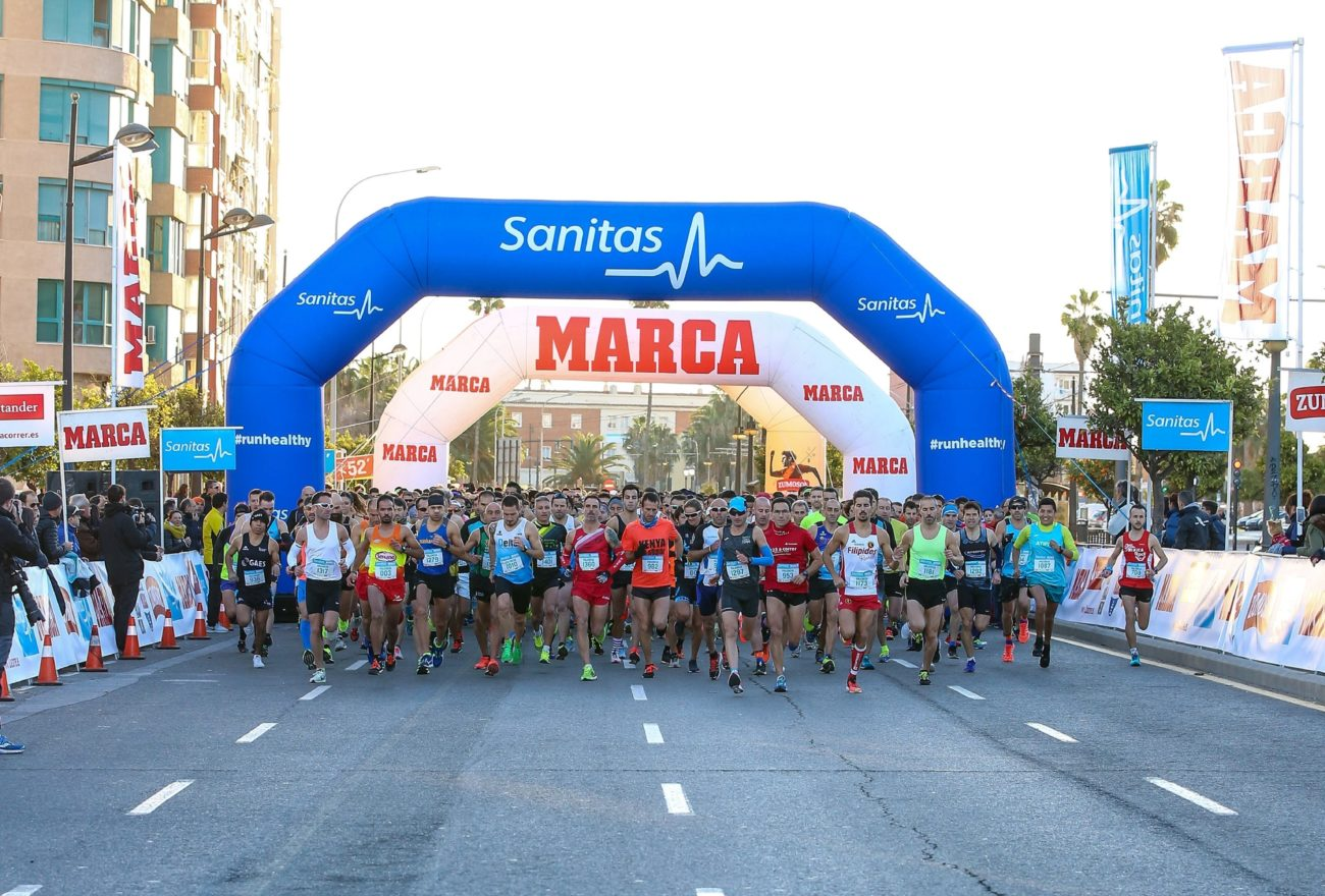Salida de la Sanitas MARCA Running Series Valencia 2017.