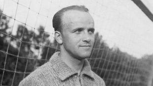 Edward Madejski, en uno de sus partidos con el Wisla.