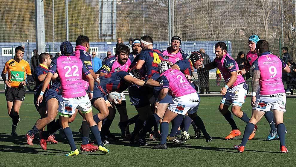 Una imagen del choque disputado en La Teixonera entre Barça y VRAC...