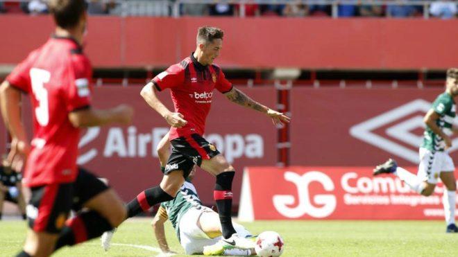 Raíllo durante un partido con el Mallorca esta temporada.