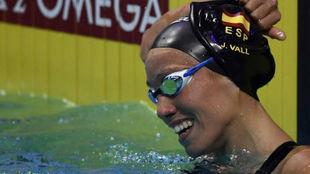 Jessica Vall, sonriente al finalizar una prueba