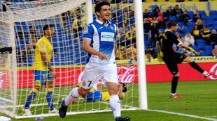 Gerard Moreno celebrando uno de sus tantos