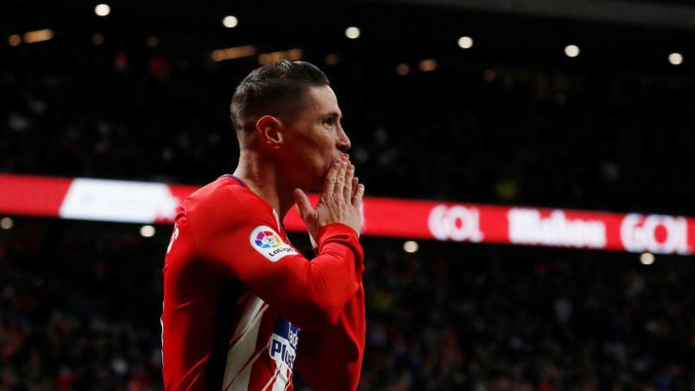 Torres, celebrando su gol ante el Alavés