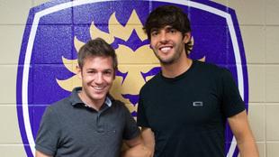 El redactor de MARCA, Juan Ignacio García-Ochoa, y Kaká, en Orlando