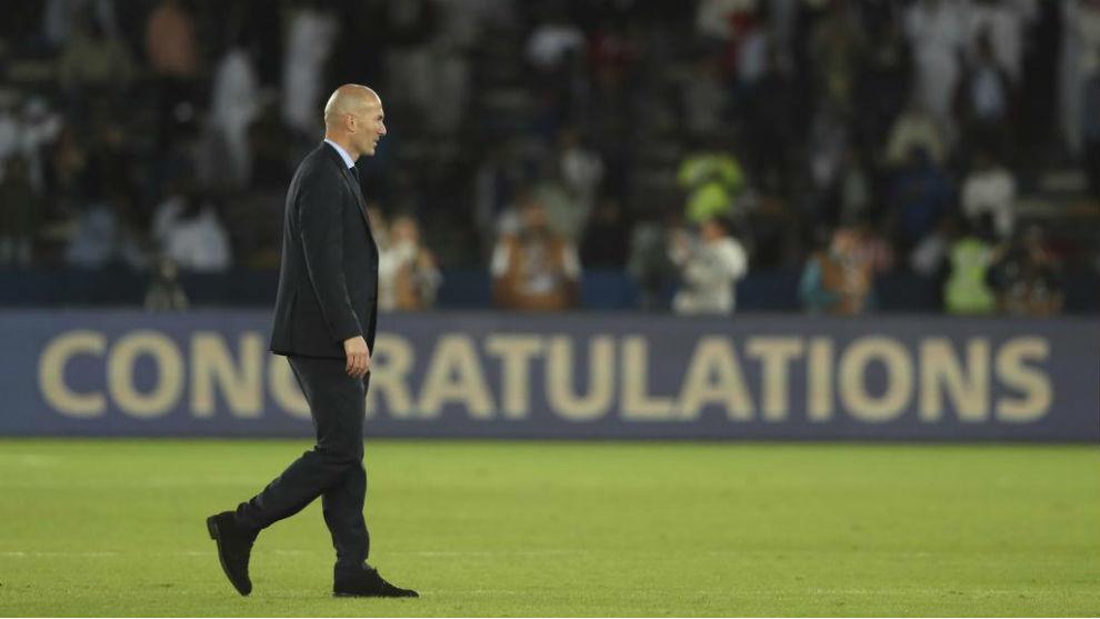 Zidane, durante la final del Mundial de Clubes en Abu Dabi