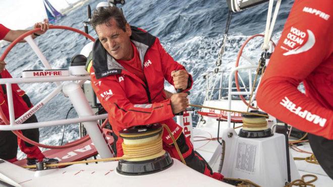 Joan Vila, navegante del MAPFRE en la Volvo Ocean Race