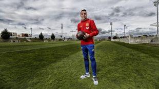 Iago Aspas tras un entrenamiento con la selección española