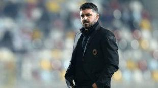 Gattuso, con el Milan.
