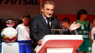 Javier Lozano, en la gala de presentación 2017/2018 de la Liga...