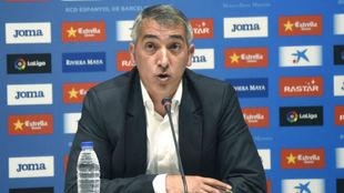 Ramón Robert, durante una rueda de prensa.