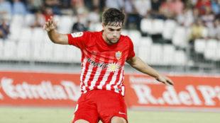 Pozo, durante un partido con el Almería de esta temporada.
