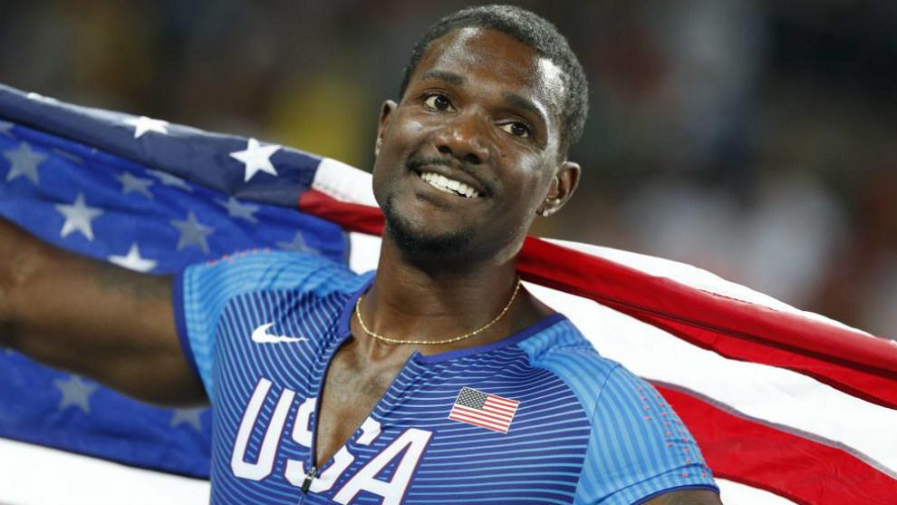 Justin Gatlin, tras ganar la medalla de plata en 100 metros en Río...