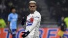 Mariano celebra tras marcar en el partido entre el Olympique Lyon y el...