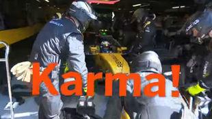 La retirada de Palmer en Monza tras no cumplir la sanción por...
