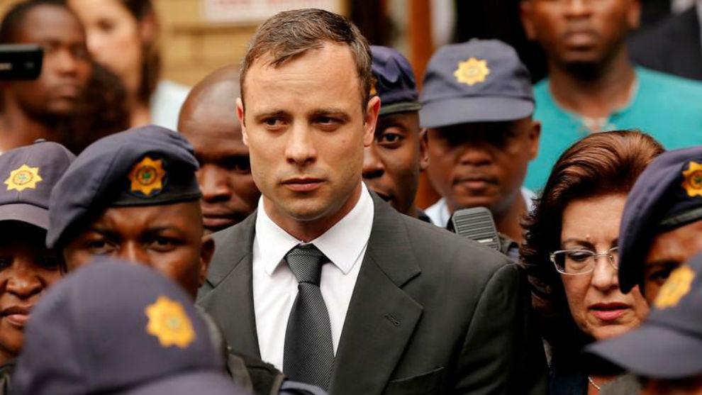 Oscar Pistorius, tras recibir su condena de 5 años en 2014.