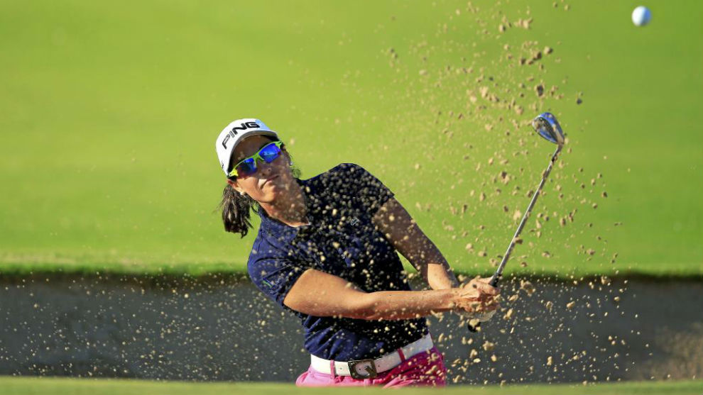 Carmen Alonso, durante el Dubai Ladies Masters de 2016.