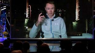 Chris Froome, la noche del lunes en la BBC desde Mallorca.