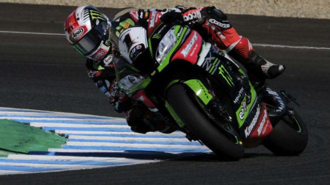 Rea, con su Kawasaki en Jerez.