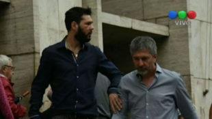 Matías Messi sale de los juzgados tras ser puesto en libertad