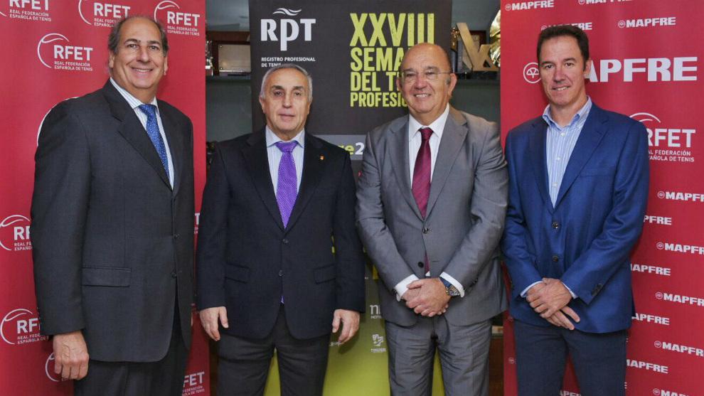 Luis Mediero, Alejandro Blanco, Miguel Díaz y Dominic Conde