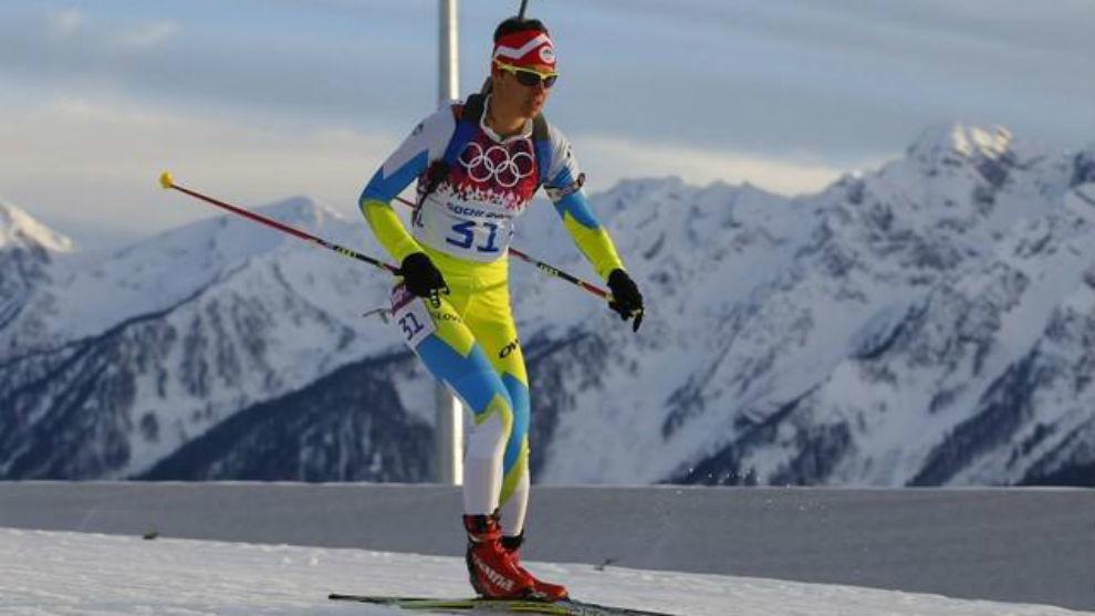 Teja Gregorin durante los Juegos Olímpicos de Invierno de Sochi.