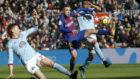 Jordi Alba, en un lance del Barça-Celta.