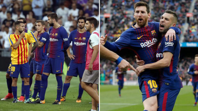 Real madrid vs barcelona barcelona same team different for Madrid sevilla marca