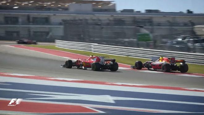 El duelo Verstappen y Raikkonen en Austin
