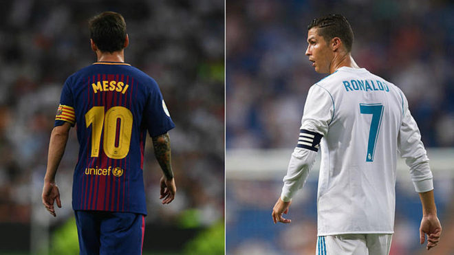 b8e87284db2 The defining image of the previous 'Clasico' in the league last April was  the sight of Lionel Messi defiantly showing the back of his shirt to the  baying ...