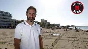 Vicente Moreno posa para MARCA en la Playa de Palma