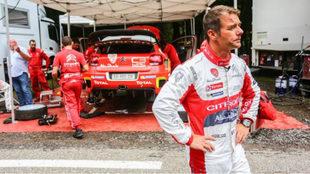 'Seb', el pasado verano, en su primer test con el C3 WRC.