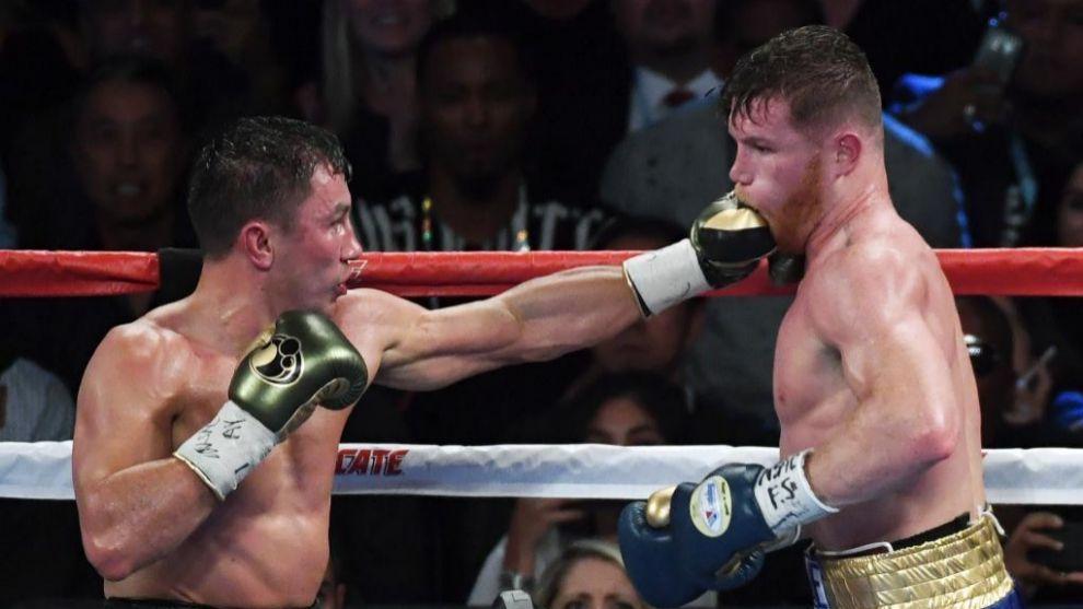 Golovkin golpea a Canelo en su primer enfrentamiento