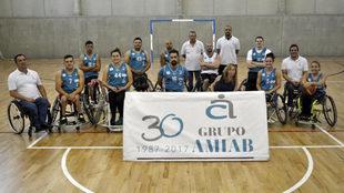 La plantilla del AMIAB Albacete posando a principio de temporada