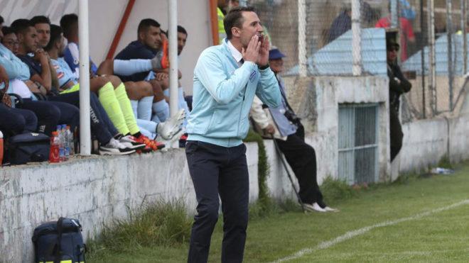 Beñat San José, durante un partido con Bolívar.
