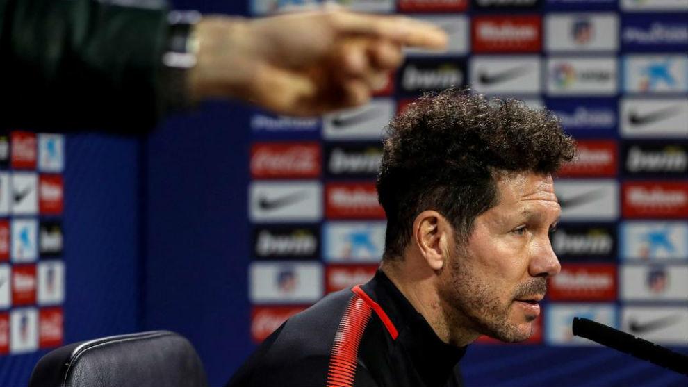 Simeone en la rueda de prensa previa al duelo frente al Espanyol