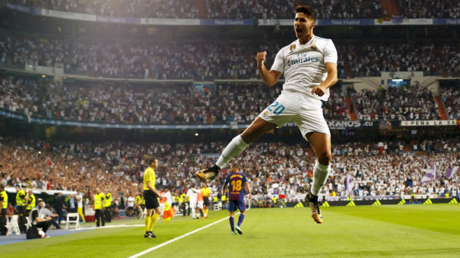gol marco asensio real madrid fc barcelona supercopa españa santiago bernabeu