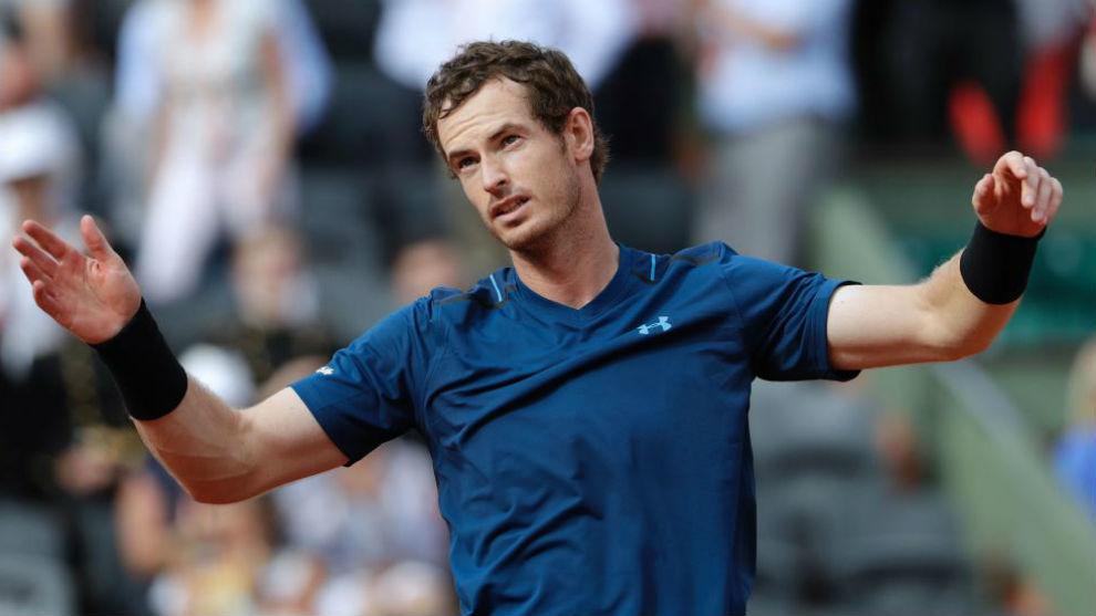 Murray celebra un triunfo