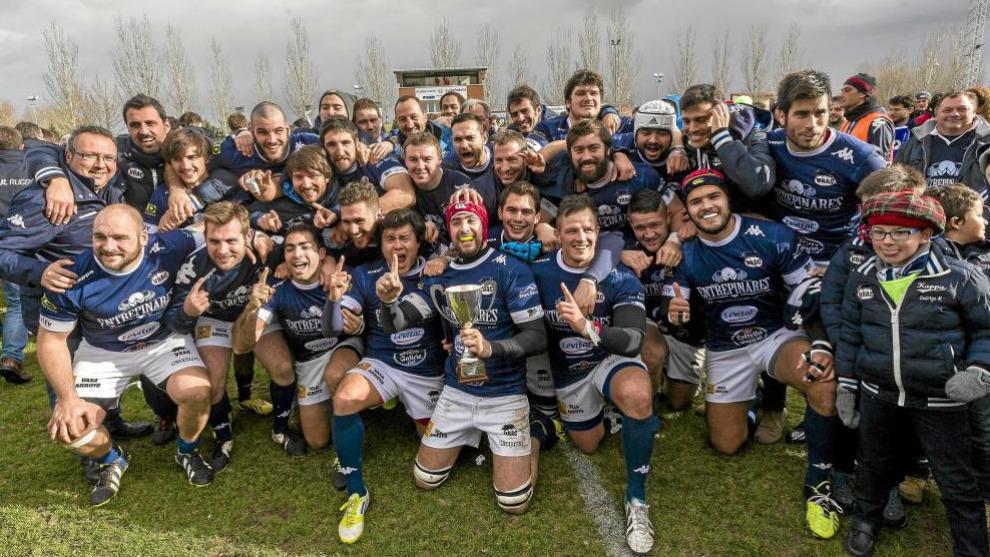 El VRAC celebra la Copa Ibérica conquistada en 2014