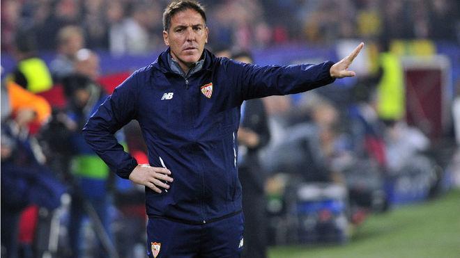 Berizzo, en un partido con el Sevilla.