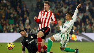 Sergio, en una clara ocasión de gol