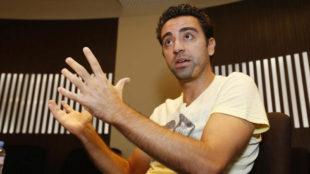Xavi posa para Marca durante una entrevista en Doha